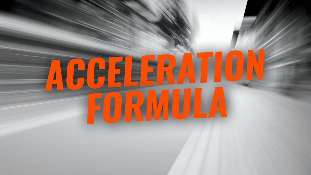 Unbreakable Self-Discipline - Acceleration Formula